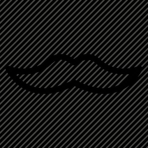 man, mascot, mature, moustache icon