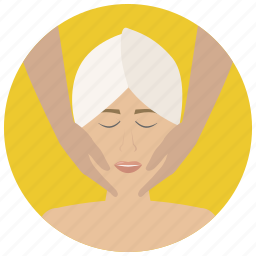 beauty, face massage, facial, massage, spa, treatment, wellness icon