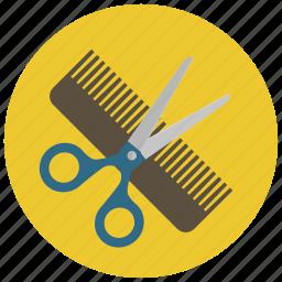 barber, beauty, cut, hair, hairdresser, scissors, wellness icon