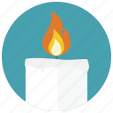 aroma, candle, fire, relaxation, spa, therapy, wellness icon