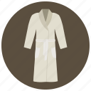 bath robe, bathrobe, beauty, dressing gown, housecoat, spa, wellness icon