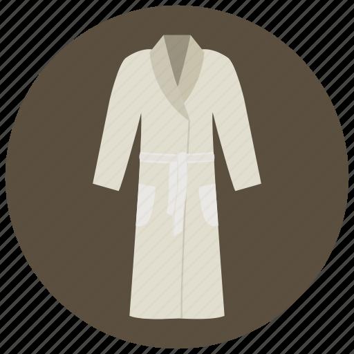 bath robe, bathrobe, beauty, dressing gown, housecoat, spa, wellness icon