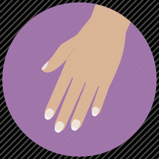 beauty, fingers, hand, manicure, nails, spa, wellness icon