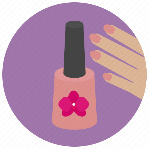 beauty, enamel, manicure, nail, nails, polish, spa icon