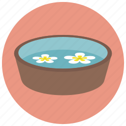 bath, beauty, flower bath, foot bath, spa, wellness icon