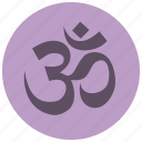 beauty, meditation, om, relaxation, spa, wellness, yoga icon