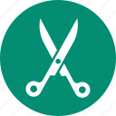 cut, cutting, scissor, tool icon