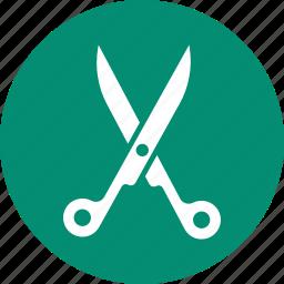 cut, cutting, scissor, tool icon