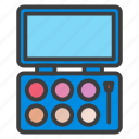 beauty, cosmetic, eye, eyeshadow, fashion, filled, line, makeup icon
