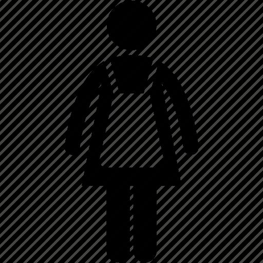 attire, female, professional, uniform, woman icon