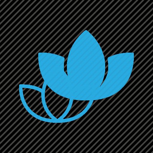 flower, herbal, lily, lotus, spa, wellness, yoga icon
