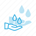 hand, oil, spacare, therapy, water icon