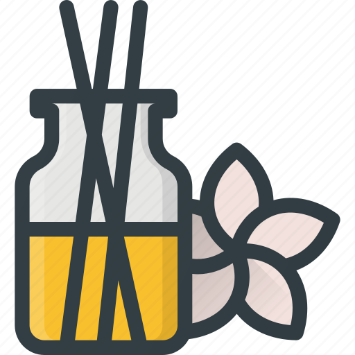 flower, herbal, incense, oil, relax, therapy, wellness icon