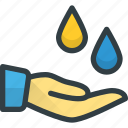 care, hand, oil, spa, therapy, water icon
