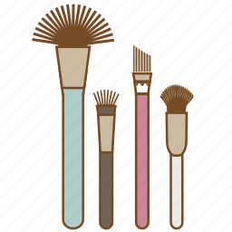 beauty, brush, cosmetic, makeup, mascara, paintbrush, painting icon