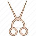 cosmetic, cut, cutting, hair, knife, salon, scissors icon