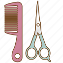 brush, comb, cosmetic, hair salon, hairbrush, haircut, salon icon