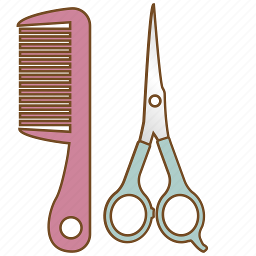 brush, comb, cosmetic, hair salon, hairbrush, haircut, salon icon