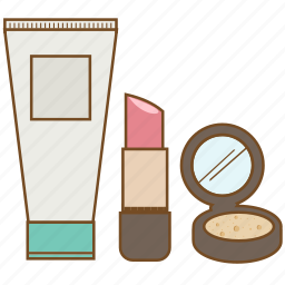 cosmetic, face powder, lip, lipstick, lotion, makeup, powder icon