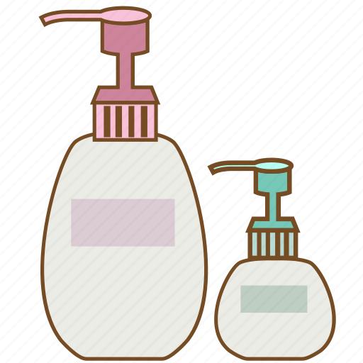 cosmetic, cream, lotion, lotion bottle, packaging, shampoo, shower icon
