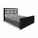 bed, bedspread, design, furniture, interior, model, pillow icon