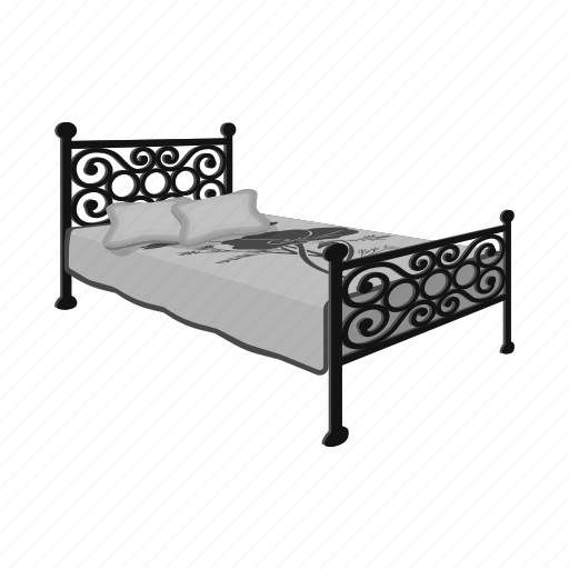 Bed, bedspread, design, furniture, interior, model, pillow icon - Download on Iconfinder