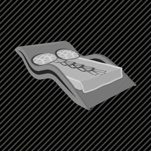 bed, bedspread, design, furniture, interior, model, pillow icon