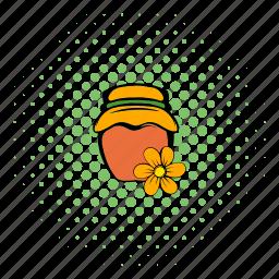 bank, comics, food, gold, honey, honeycomb, sweet icon