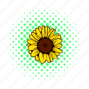 plant, flower, natural, garden, sunflower, nature, comics icon