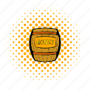 comics, cask, honey, keg, wood, wooden, barrel icon