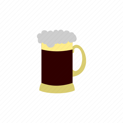 alcohol, background, beer, cold, froth, mug, pint icon