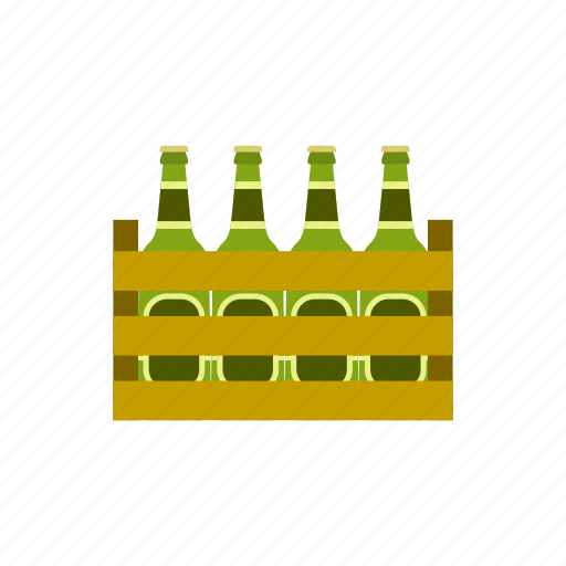 alcohol, beer, bottle, case, concept, line, pack icon