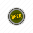 alcohol, banner, beer, crown, decoration, gold, label icon