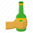beer, bottle, hold