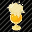 beer, cartoon, glass, isometric, lager, mug, pint