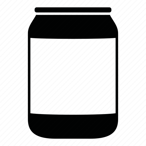 bottle, can, container, jar, label, medium icon