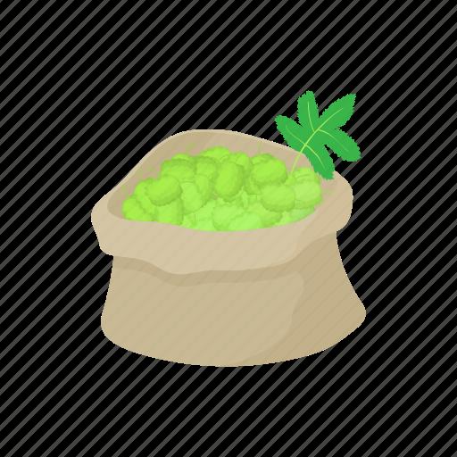 bag icon, beer, botany, brew, flavor, hop, plant icon