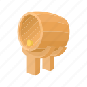 alcohol, barrel, beer, cartoon, container, drink, storage icon