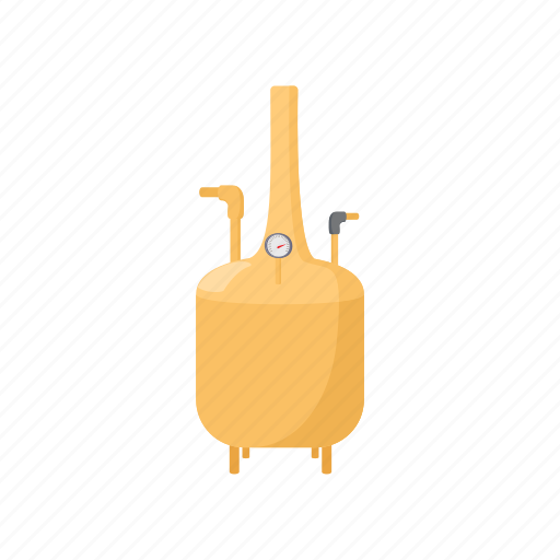 alcohol, beer, brewery, cartoon, factory, metal, tank icon