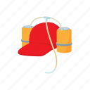 beer, beverage, cap, cartoon, cloth, drink, straw icon