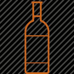 alcohol, booze, bottle, drink, wine, winebottle icon