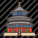 china, park, temple, history