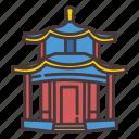 china, pavilion, architecture, park icon