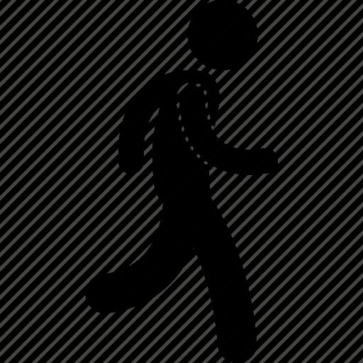 exercise, jog, man, run, running icon