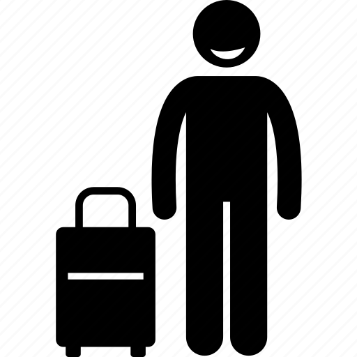 bag, holiday, luggage, man, travel, vacation icon