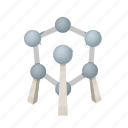 atom, belgium, landmark, molecule, monument, nucleus, structure icon