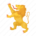 abstract, animal, design, emblem, image, lion, sign icon