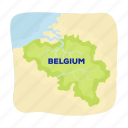 belgium, country, geography, location, map, territory icon