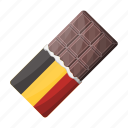 belgian, chocolate, dessert, food, sweetness, tiles icon