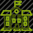 building, college, learn, school, university icon